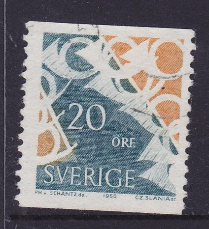 Sweden -1965 Posthorns 20ore -used