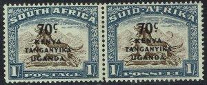 KENYA UGANDA & TANGANYIKA 1941 GNU SOUTH AFRICA PAIR CRESCENT MOON FLAW MNH **