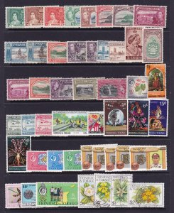 Trinidad & Tobago a page of KGVI & QE2 with some sets