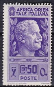 1938 Italian East Africa Scott 10 Victor Emmanuel MLH