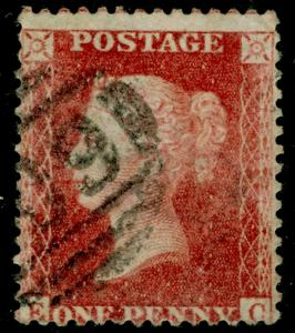 SG40, 1d rose-red PLATE 37, LC14, USED. Cat £35. EC