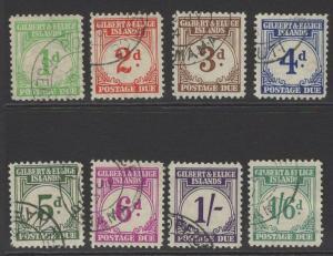 GILBERT & ELLICE IS. SGD1/8 1940 POSTAGE DUE SET FINE USED