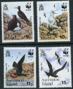ASCENSION Sc#483-6 1990 WWF Frigate Birds  MNH Complete