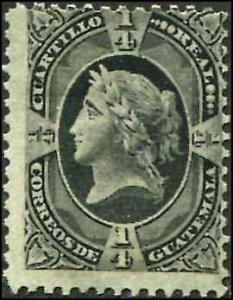 Guatemala SC# 7 Liberty 1/4r mint no gum SCV $42.50