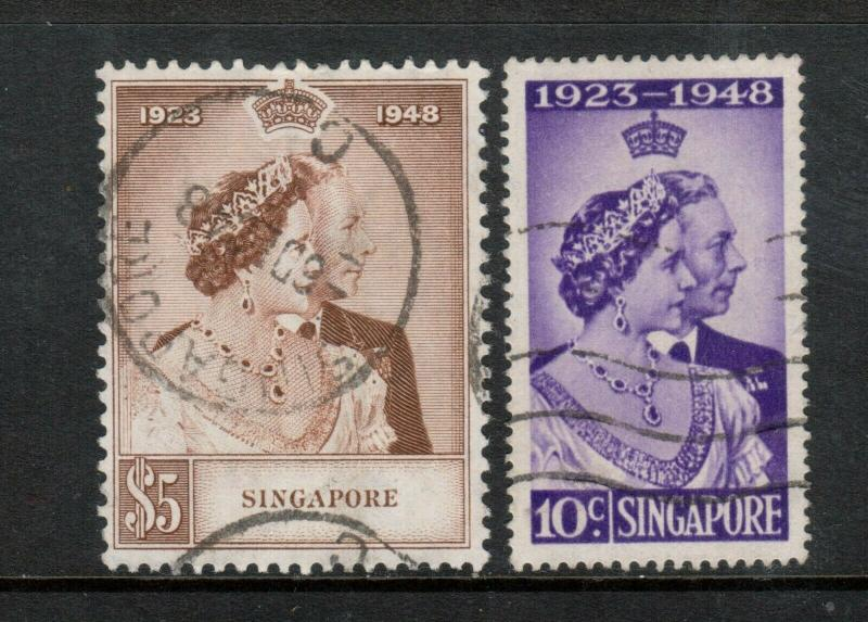 Singapore #21 - #22 Very Fine Used Set