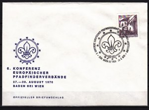 Austria, 1970 issue. 28/AUG/70. EUROPA-Scout cancel. Cachet cover. ^