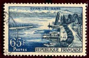France; 1957: Sc. # 856: O/Used Single Stamp