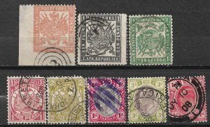 +COLLECTION LOT OF # 815 TRANSVAAL 1874+ 8 CV+$54