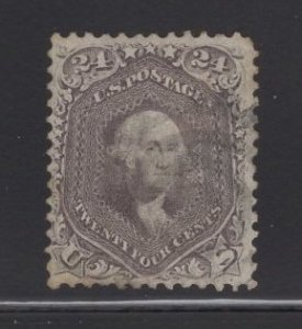 US Stamp Scott #70 USED 24c Red Lilac Washington SCV $300