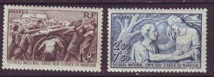 J24599 JLstamps 1941 france set mh #b112-3 people