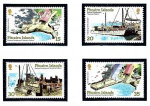 Pitcairn Is 178-81 MNH 1978 New Harbor      (KA)