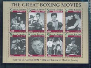 THE GREAT BOXING MOVIES Sheet of 8 #1610 MNH - Sierra Leone E27
