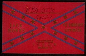 QSL QSO Radio Card Jack Hobbs,KDD-0570, Cuthbert, Georgia (Q3360)