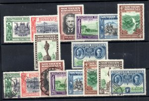 Southern Rhodesia 1940 BSAC LHM & fine used sets SG53-60 WS18808