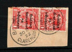 IRELAND 1922 Free State Overprints EIRE *Ballyglass Claremorris* CDS Mayo MS2279