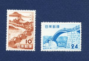 JAPAN - # 578-579 - unused hinged - National Park - 1952