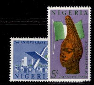NIGERIA QEII SG120-121, complete set, NH MINT.