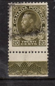 Canada #119 Used Lathework D Single