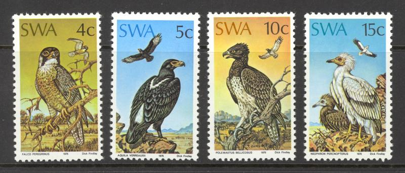 South West Africa Sc# 373-376 MNH 1975 4c-15c Protected Birds of Prey