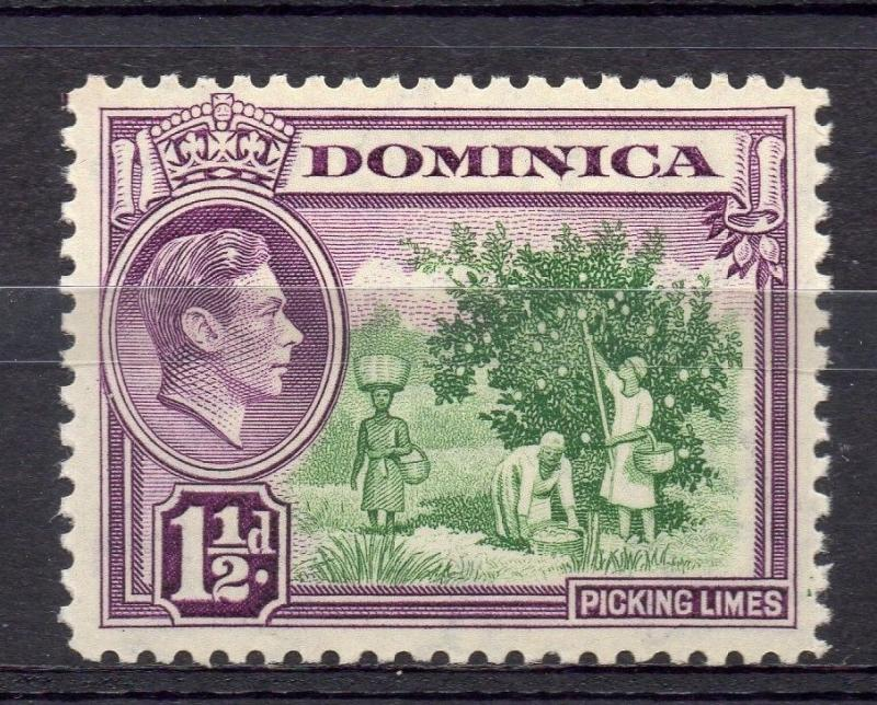 Dominica 1938 GVI Early Issue Fine Mint Hinged 1.5d. 082808