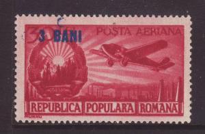 1952 Romania 3b on 50l U/M