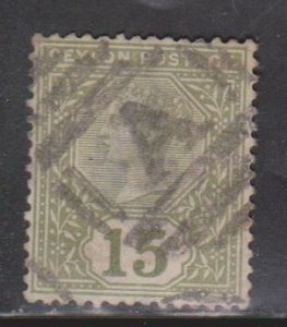 CEYLON Scott # 136 Used - Queen Victoria