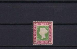 HELIGOLAND 1867 2 sch UNUSED ROULETTE STAMP CAT £65 CONDITION SHOWN REF 6159