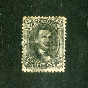 US Stamps # 91 F-VF Strong grill used
