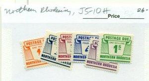 NORTHERN RHODESIA #J5-10, Mint Hinged, Scott $26.00