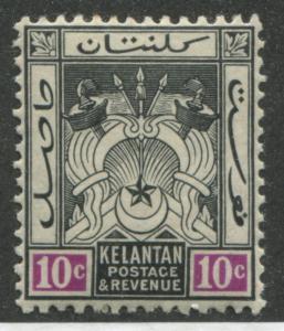 Malaya Kelantan 1911 10 cents black & violet mint o.g.