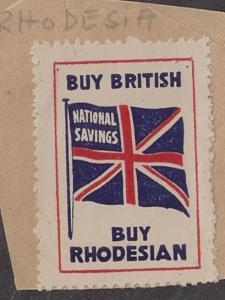 Rhodesia: Interesting Savings Label: Buy Rhodesian w/ flag