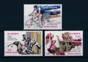 [55577] Bangladesh 1984 Olympic games Cycling Hockey Volleyball MNH