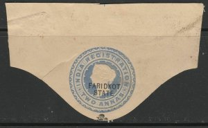 Faridkot India British Colonies Postal Stationery Cut Out A17P3F488