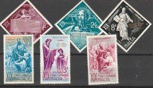 MALTA #275-80 MINT HINGED COMPLETE