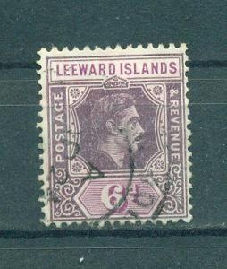 Leeward Islands sc# 110 used cat value $3.00