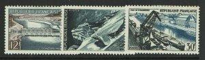France SC# 807-809, Mint Hinged, Hinge Remnants - S11051