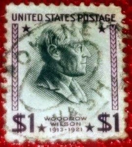USA   832 – 1938 $1 Woodrow Wilson used F CV 50.00
