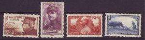 J24605 JLstamps 1940 france set mh #b97-100 people corner crease #b100