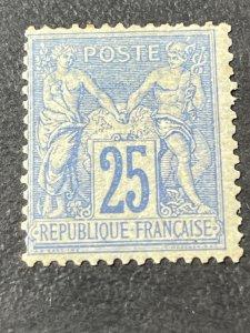 FRANCE # 81-MINT/HINGED---ULTRA---SINGLE--***SLIGHT TONING***--1876