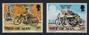 Isle of Man Motorcycles Golden Jubilee of Manx Grand Prix 2v 1973 MNH SG#39-40