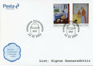Faroe Islands Faroes Art Stamps 2020 FDC Sigrun Gunnnarsdottir Paintings 2v Set