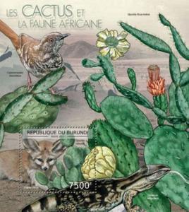 Burundi - African Cacti & Plants - Souvenir Sheet - 2J-409