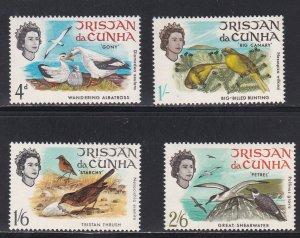 Tristan Da Cunha # 116-119, Birds, NH 1/2 Cat.