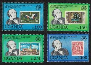 Uganda Death Centenary of Sir Rowland Hill 4v 1979 MNH SG#298-301