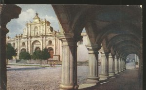 J) 1954 GUATEMALA, THE ANCIENT CATHEDRAL, POSTCARD