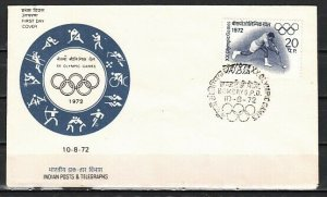 India, Scott cat. 554. Olympic Hockey issue. First day cover. *