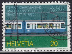 Switzerland 729 USED 1982 Zurich Tram Centenary 20c
