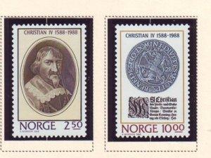 Norway Sc 932-33 1988  Christian IV stamp set mint NH