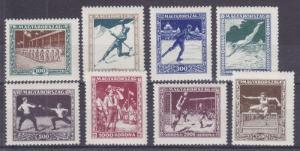 Hungary Sc B80-B87 MLH. 1925 Athletic Association Semi-Postals cplt
