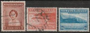 Newfoundland 208-210 U